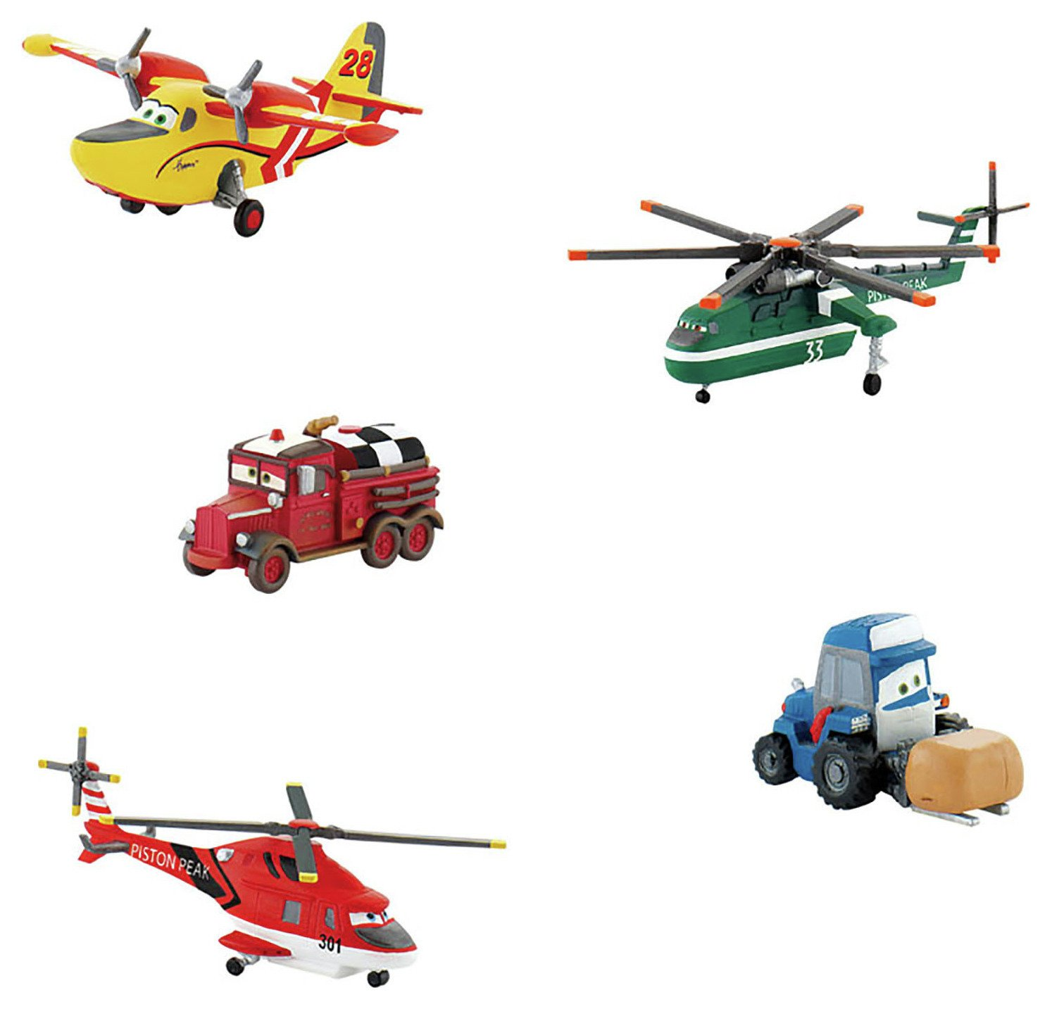 Disney - Plane Characters - Pack of 5.
