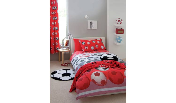 Catherine Lansfield Red Football Bedding Set - Single