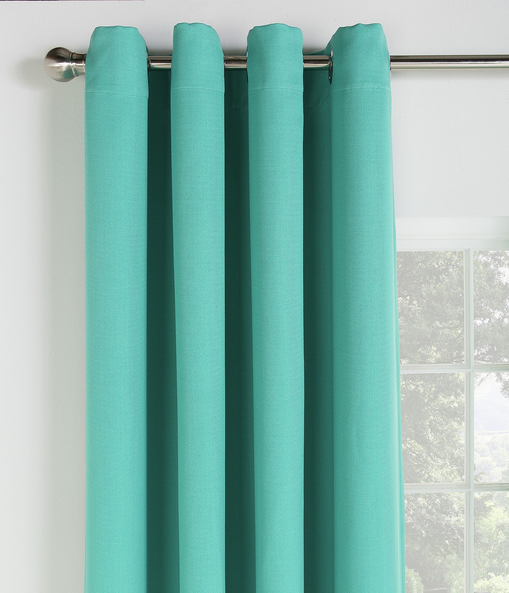 Collection Linen Look Blackout Curtains - 168x229cm - Teal
