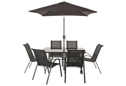 Image of the HOME Sicily 6 Seater Patio Set.