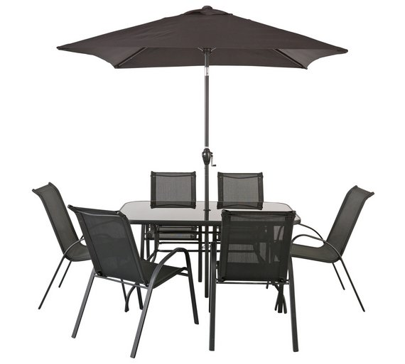 home sicily 6 seater patio furniture set