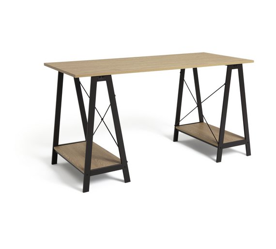 Buy Home Large Trestle Table Desk At Your Online Shop For Desks And Workstations