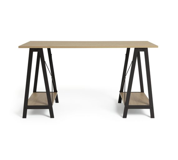 Buy HOME Large Trestle Table Desk at Argos.co.uk - Your Online ...