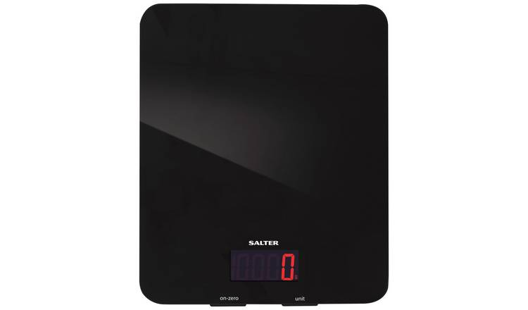 Salter Glass Digital Kitchen Scale - Black.