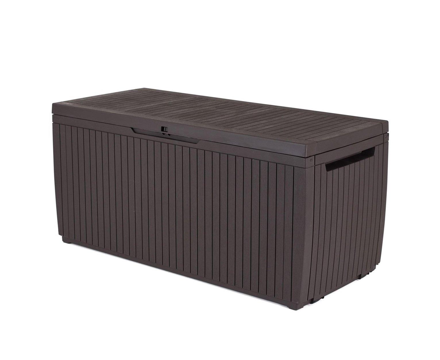 Keter Springwood Garden Storage Box 305L - Brown