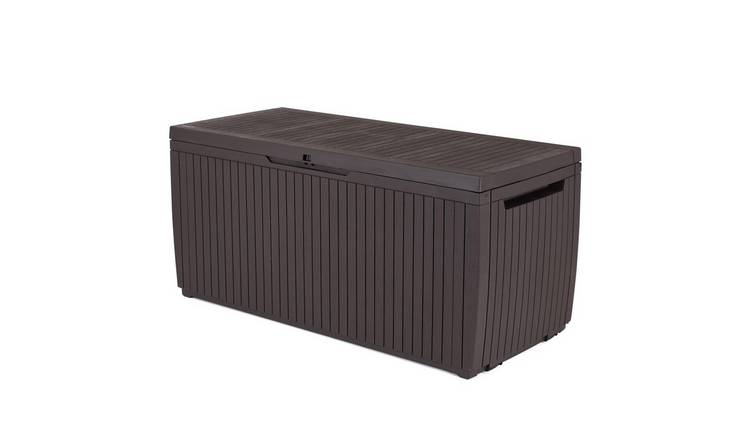 Keter Springwood 305L Garden Storage Box - Brown