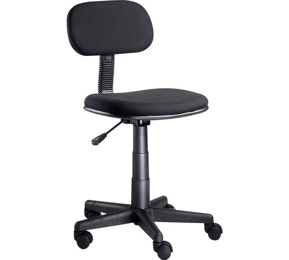 Buy Gas Lift Height Adjustable Office Chair - Black at Argos.co.uk ...
