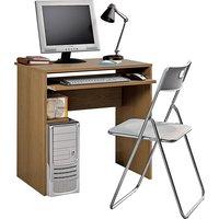 Office - Desk and Chair Set - Oak Effect