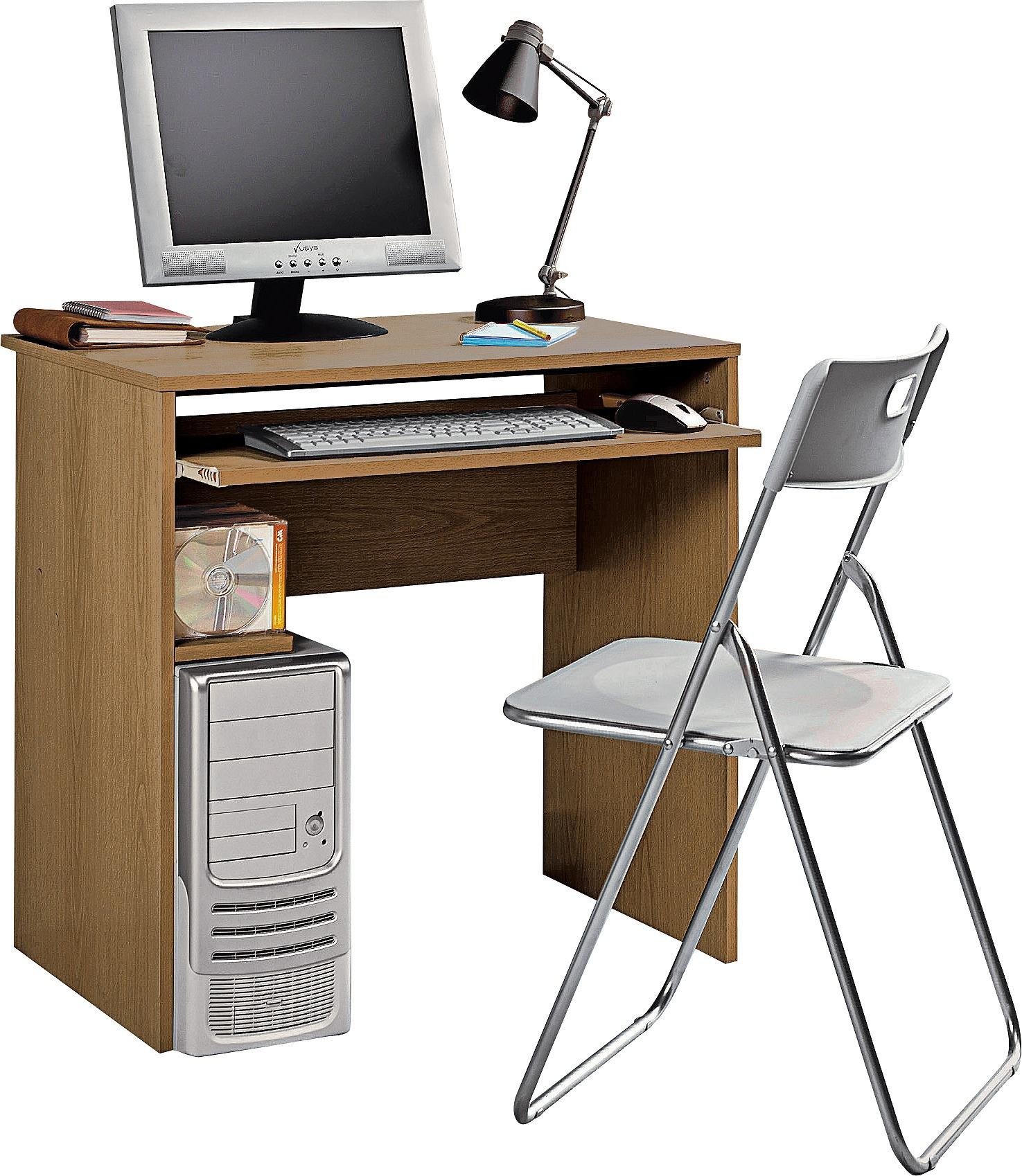 buy home office desk and chair set - oak effect at argos.co.uk