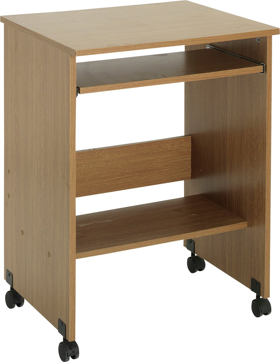 sale on functional pc trolley oak effect specials now. Black Bedroom Furniture Sets. Home Design Ideas