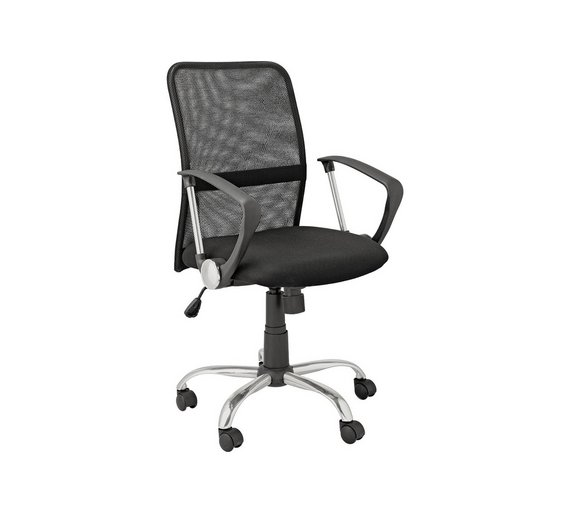 buy argos home black mesh mid back adjustable office chair office