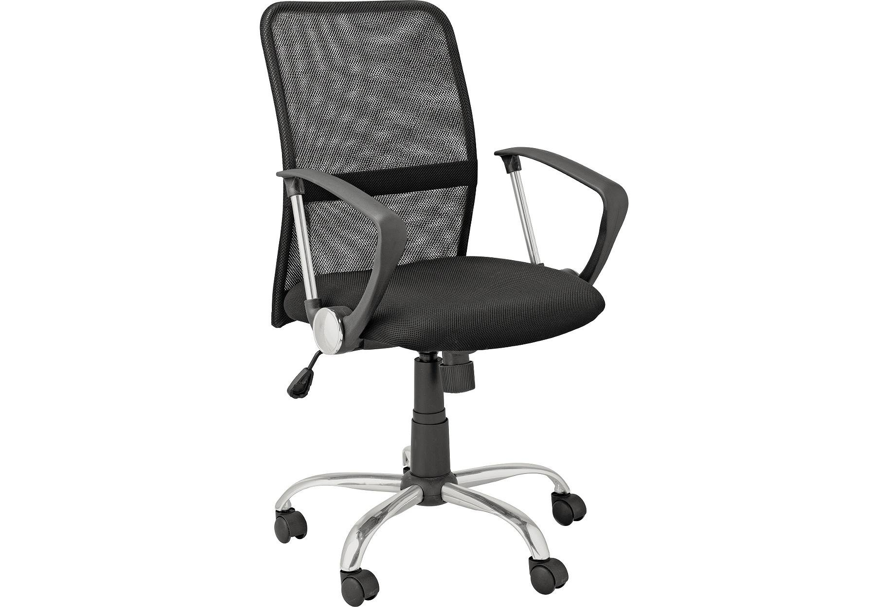 buy mesh gas lift mid back adjustable office chair - black at