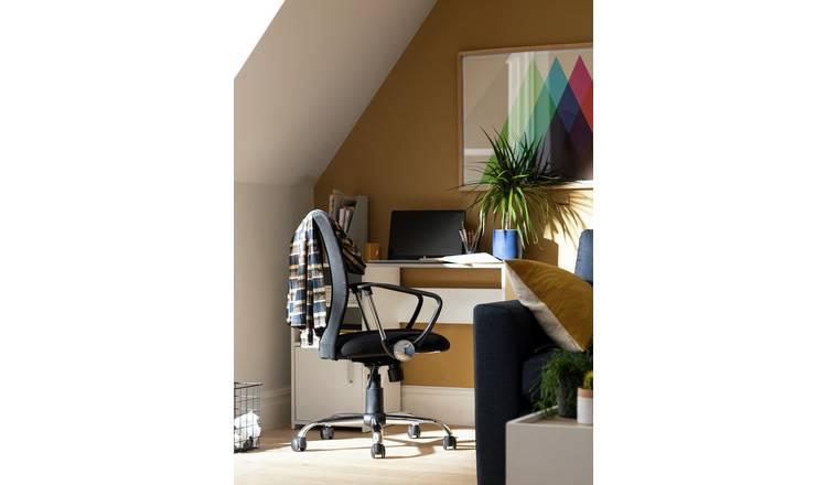 Buy Habitat Mesh Mid Back Ergonomic Office Chair Black Office Chairs Argos