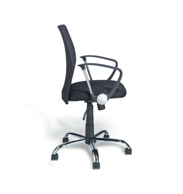 Argos Home Black Mesh Mid Back Adjustable Office Chair.
