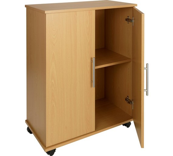 Buy home storage cupboard beech effect at for Garden office and storage