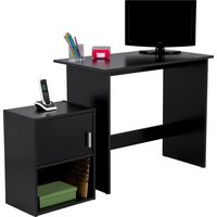 Soho - Office - Desk and Cabinet Package - Black