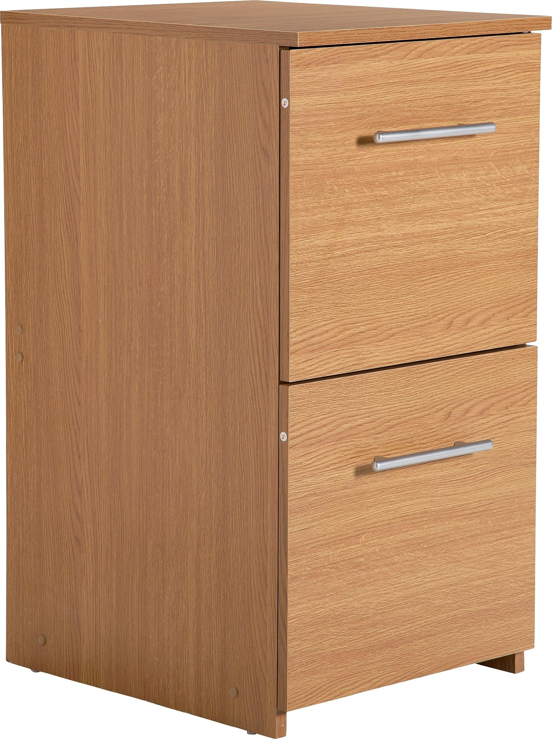 home 2 drawer filing cabinet oak effect617 - Small File Cabinet