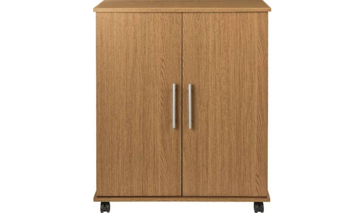 Argos Home Storage Cupboard - Oak Effect