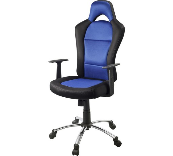 Buy HOME Gaming Office Chair Blue And Black At Argoscouk - Offic chairs