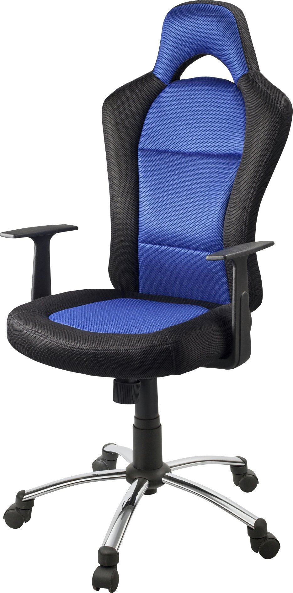 home gaming office chair blue and black