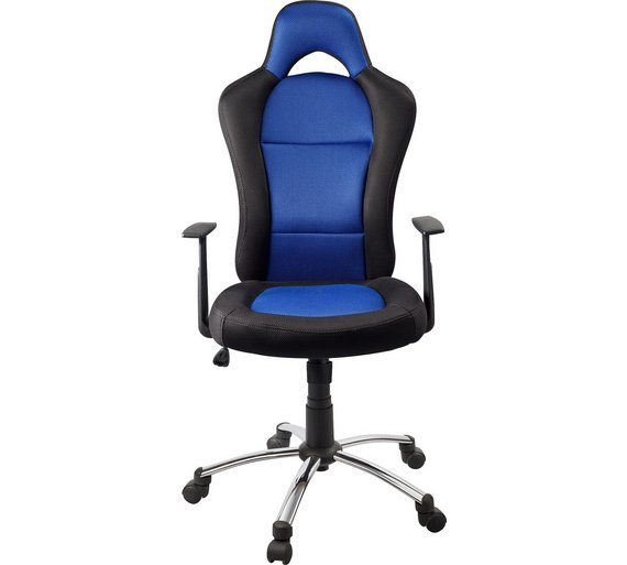 HOME Gaming Office Chair - Blue and Black617/3649 - Buy HOME Gaming Office Chair - Blue And Black At Argos.co.uk