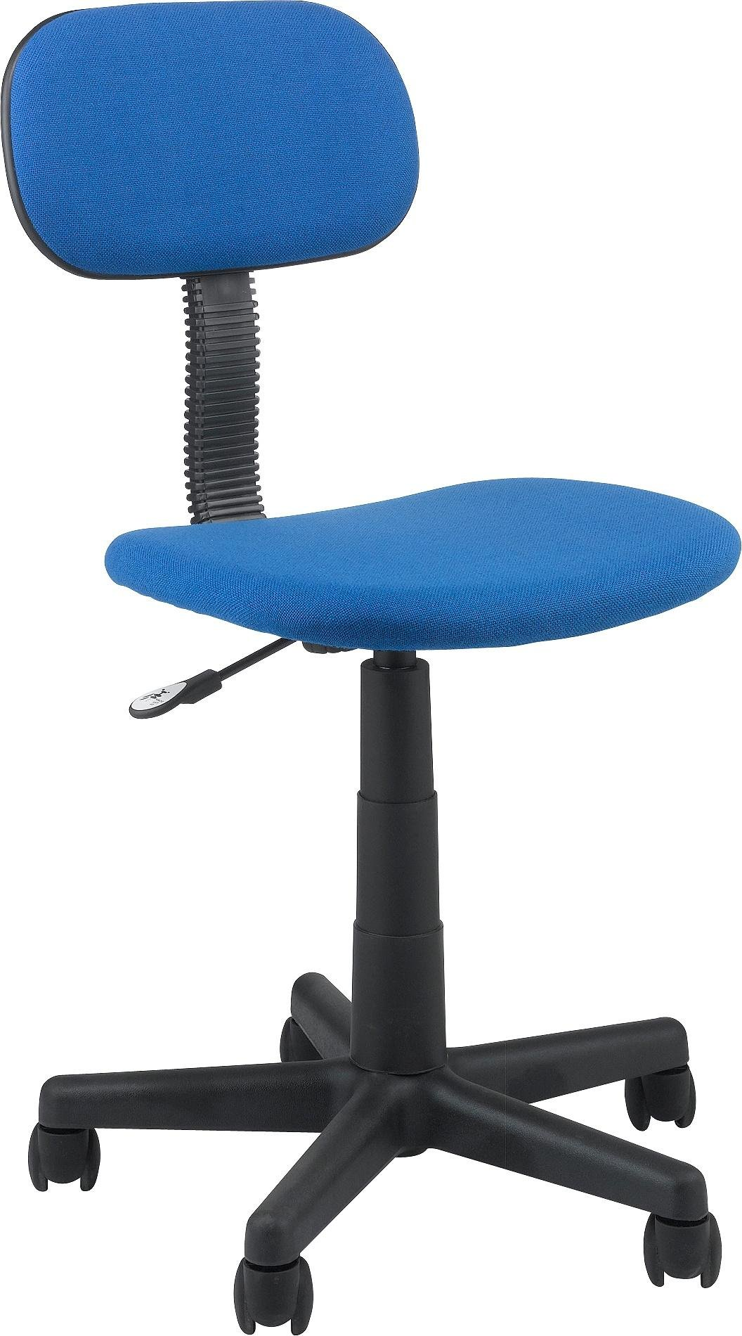 buy gas lift height adjustable office chair - blue at argos.co.uk