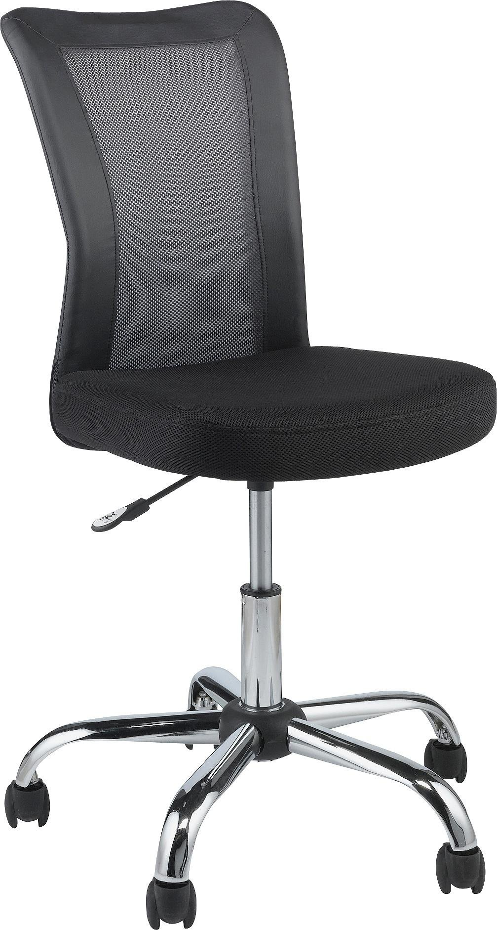 buy home reade mesh gas lift adjustable office chair - black at