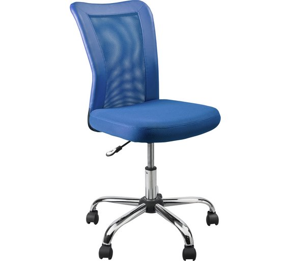 Buy home reade mesh gas lift adjustable office chair blue at your online shop Argos home office furniture uk
