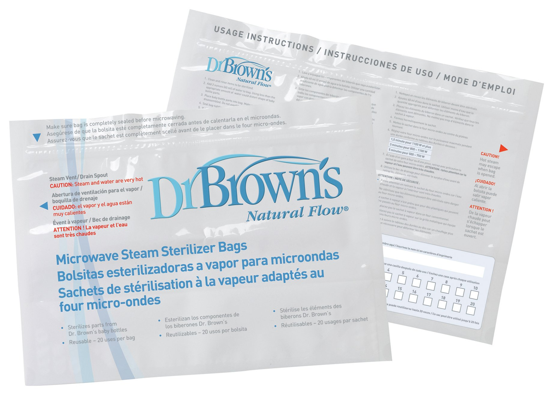 Image of Dr Brown's - Microwave Steam Steriliser Bags