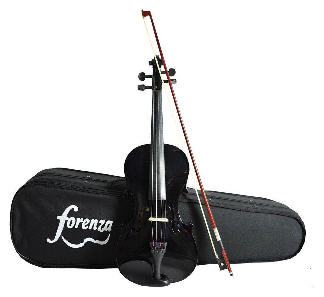 Forenza Uno Series 3/4 Size Violin - Black