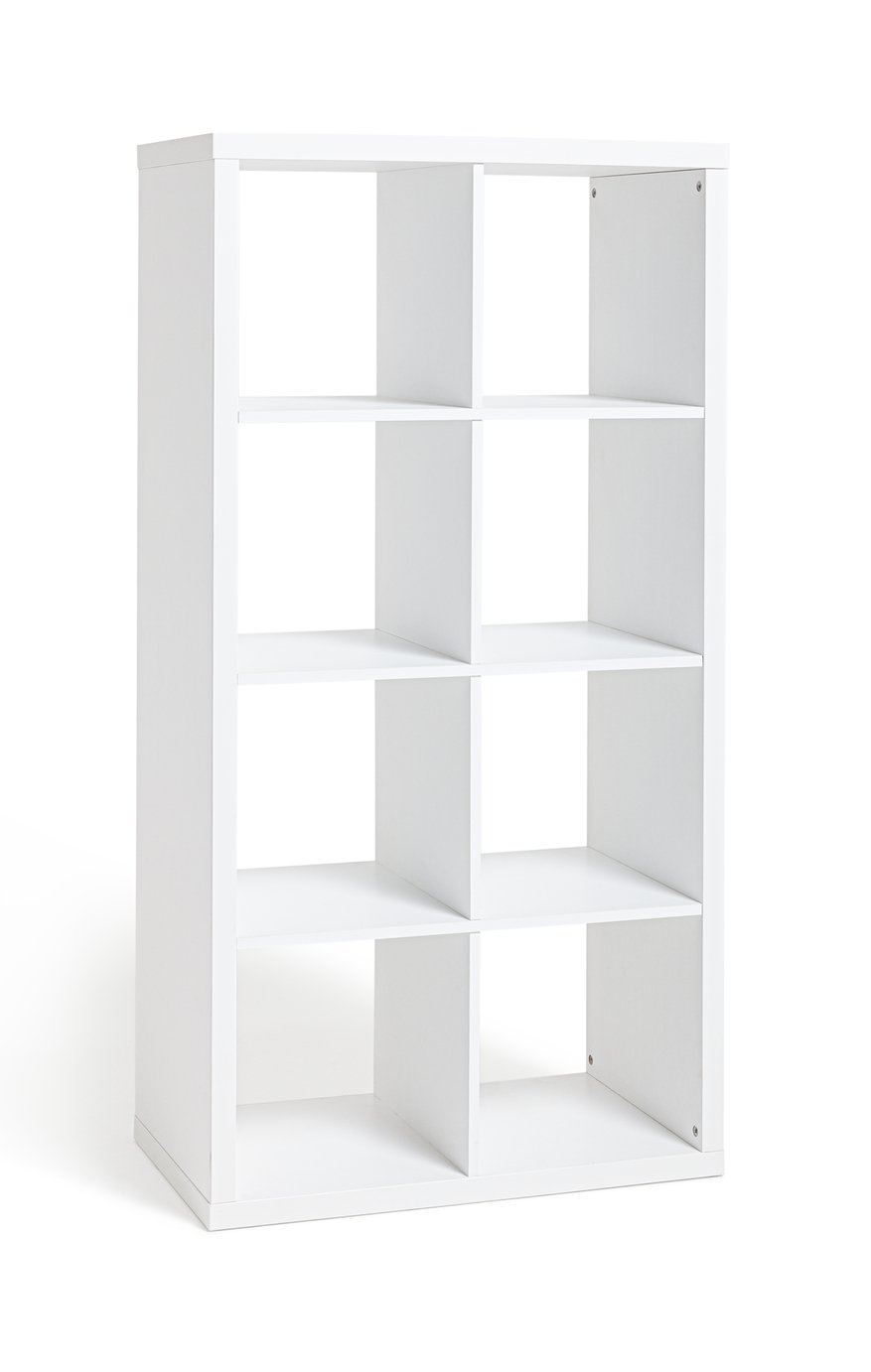 Hygena Squares Plus 8 Cube Storage Unit - White