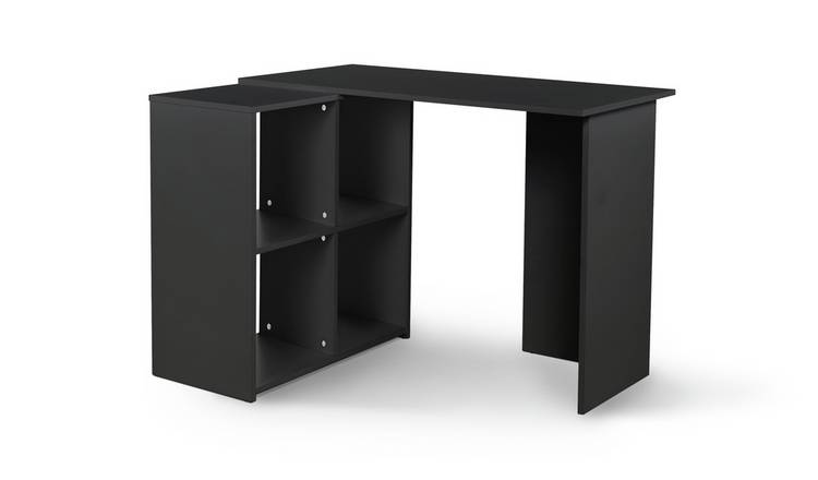 Habitat Calgary Corner Office Desk - Black