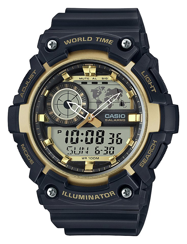 Image of Casio Black and Gold Combi Watch
