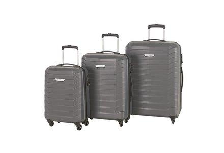 Go Explore Ultra Light 4 Wheel Hard Medium Suitcase - Silver