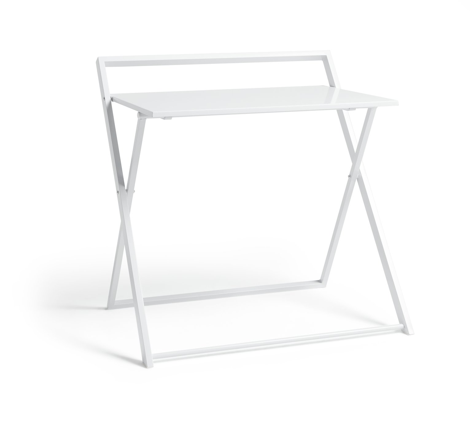 Buy HOME Compact Folding Easy Clean Desk White Desks and
