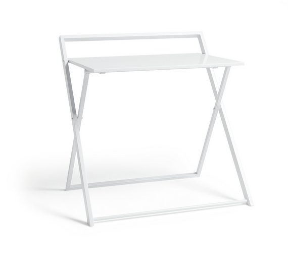 Buy HOME Compact Folding Easy Clean Desk White at Argoscouk