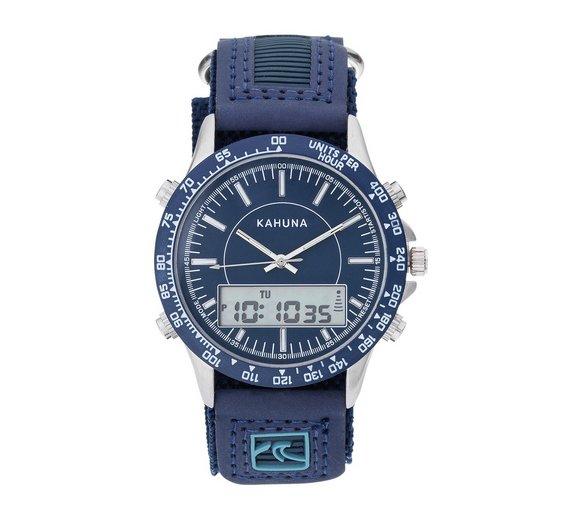 buy kahuna men s analogue digital navy velcro strap watch at argos kahuna men s analogue digital navy velcro strap watch617 4899
