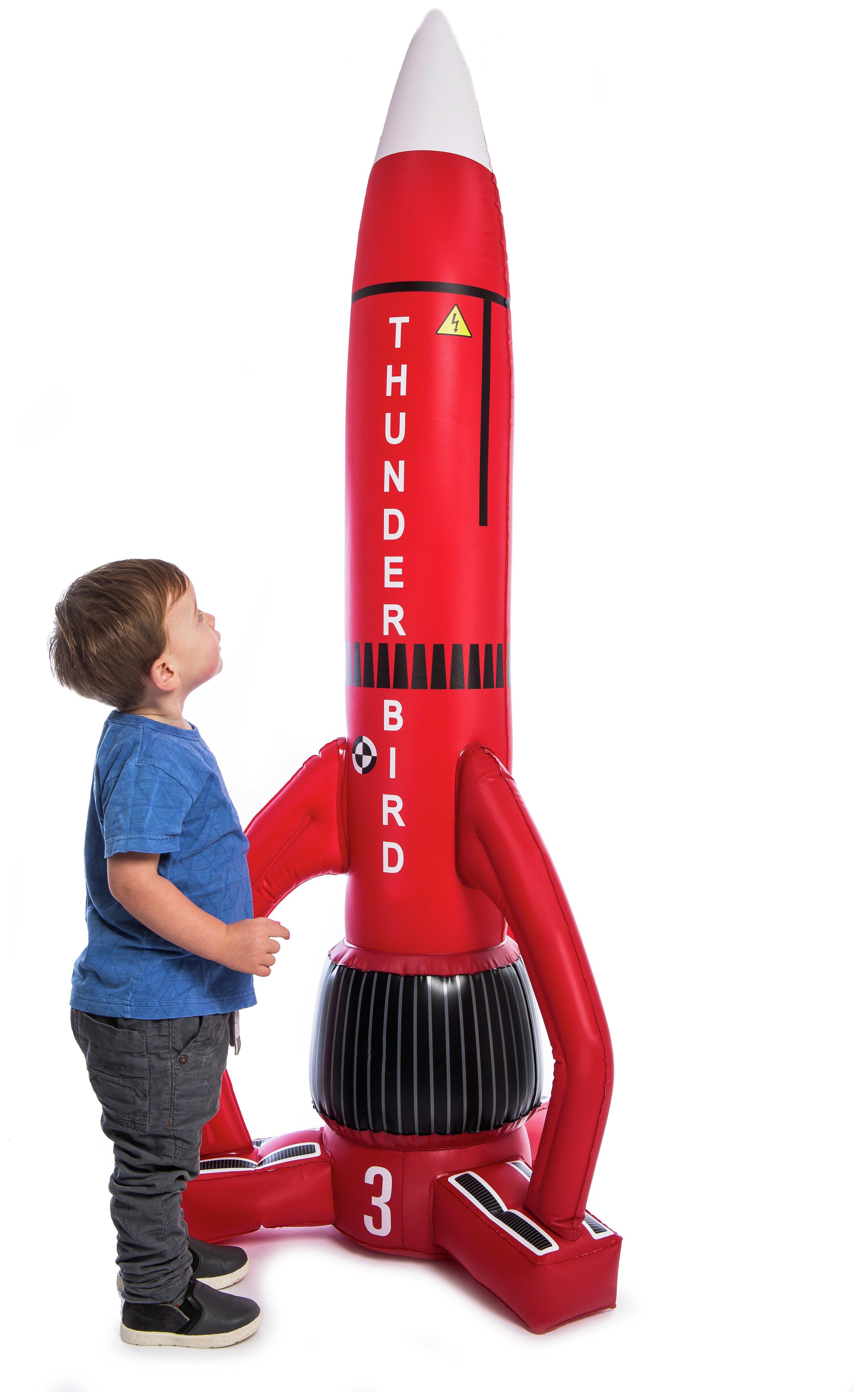 Thunderbirds - 3 Light Up Inflatable Rocket
