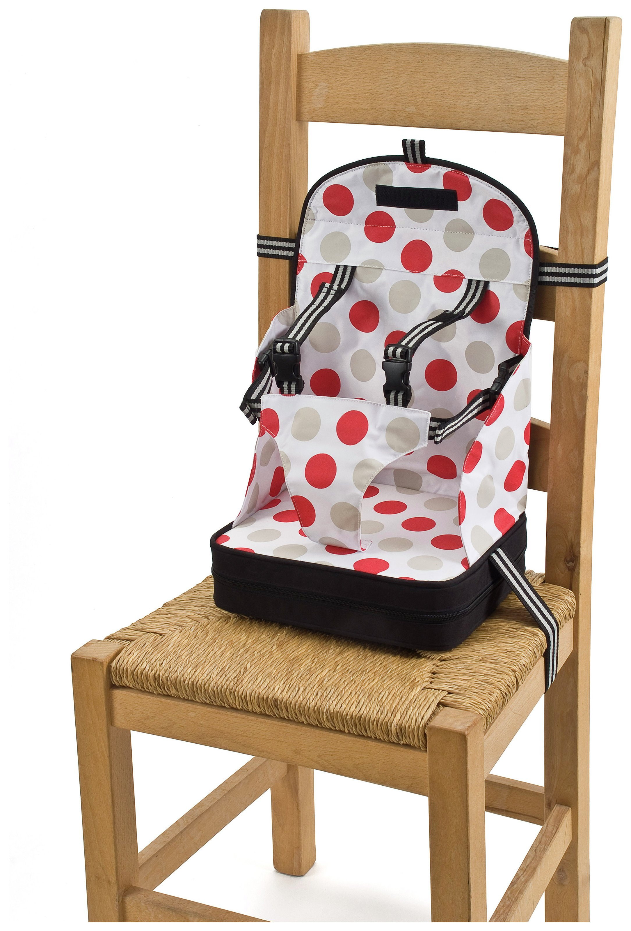 Image of Baby Polar Gear - Booster Seat - Black with Large Spot Print
