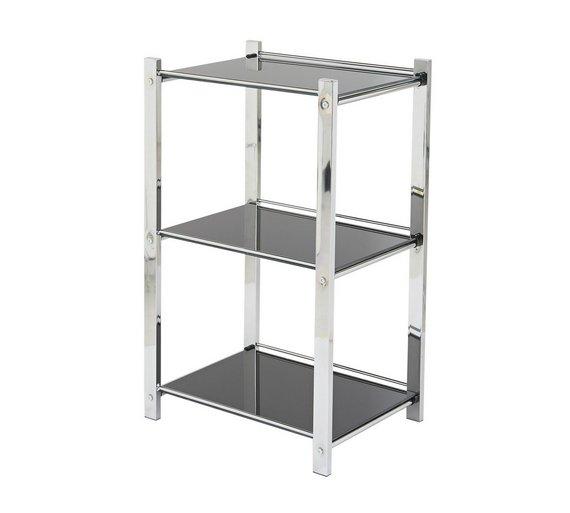 Kitchen Shelf Argos: Buy Hygena Onyx 3 Tier Glass Shelf Unit At Argos.co.uk