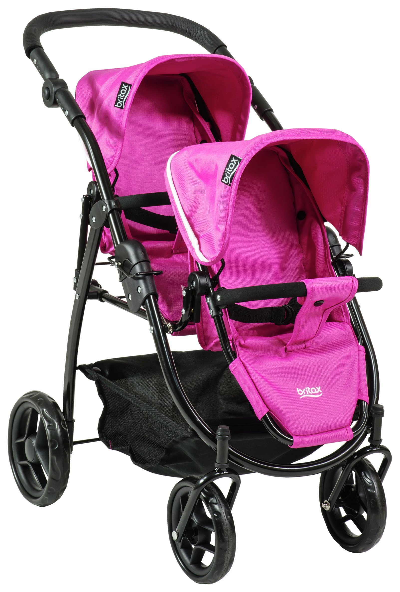 Image of Britax Duo Twin Dolls Stroller - Hot Pink.