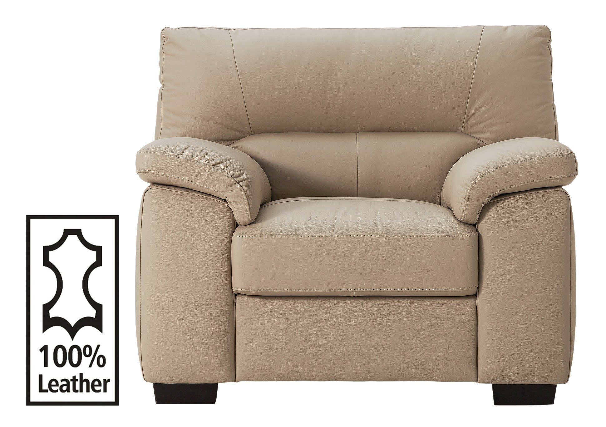 Argos Home Piacenza Leather Armchair - Taupe