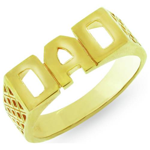 b0b10c65fa947 Buy Revere Men's 9ct Gold Plated Sterling Silver 'Dad' Ring   Mens fashion  rings   Argos
