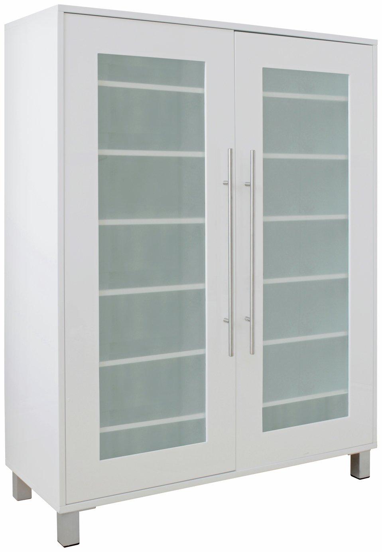 Hygena Lydiard Gloss Shoe Cabinet   White