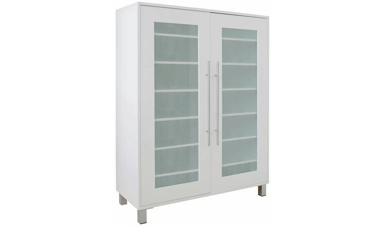 Argos Home Lydiard Gloss Shoe Cabinet - White