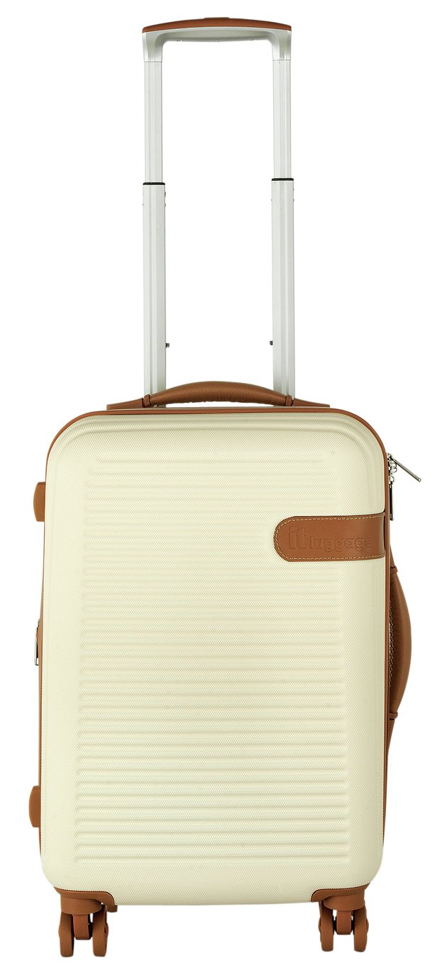 Buy IT Luggage Expandable En Vogue 8 Wheel Hard Suitcase – Cream ...