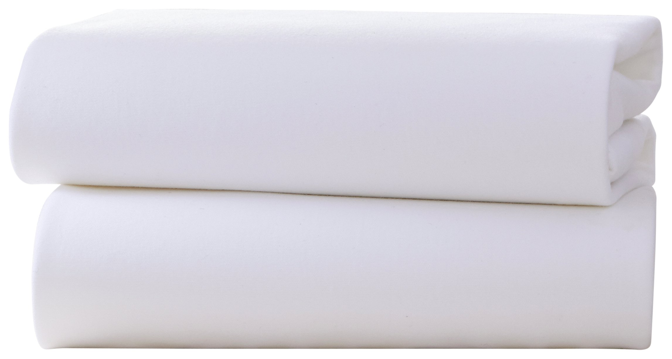 Clair de Lune Fitted Cot Bed Sheets - 2 Pack.