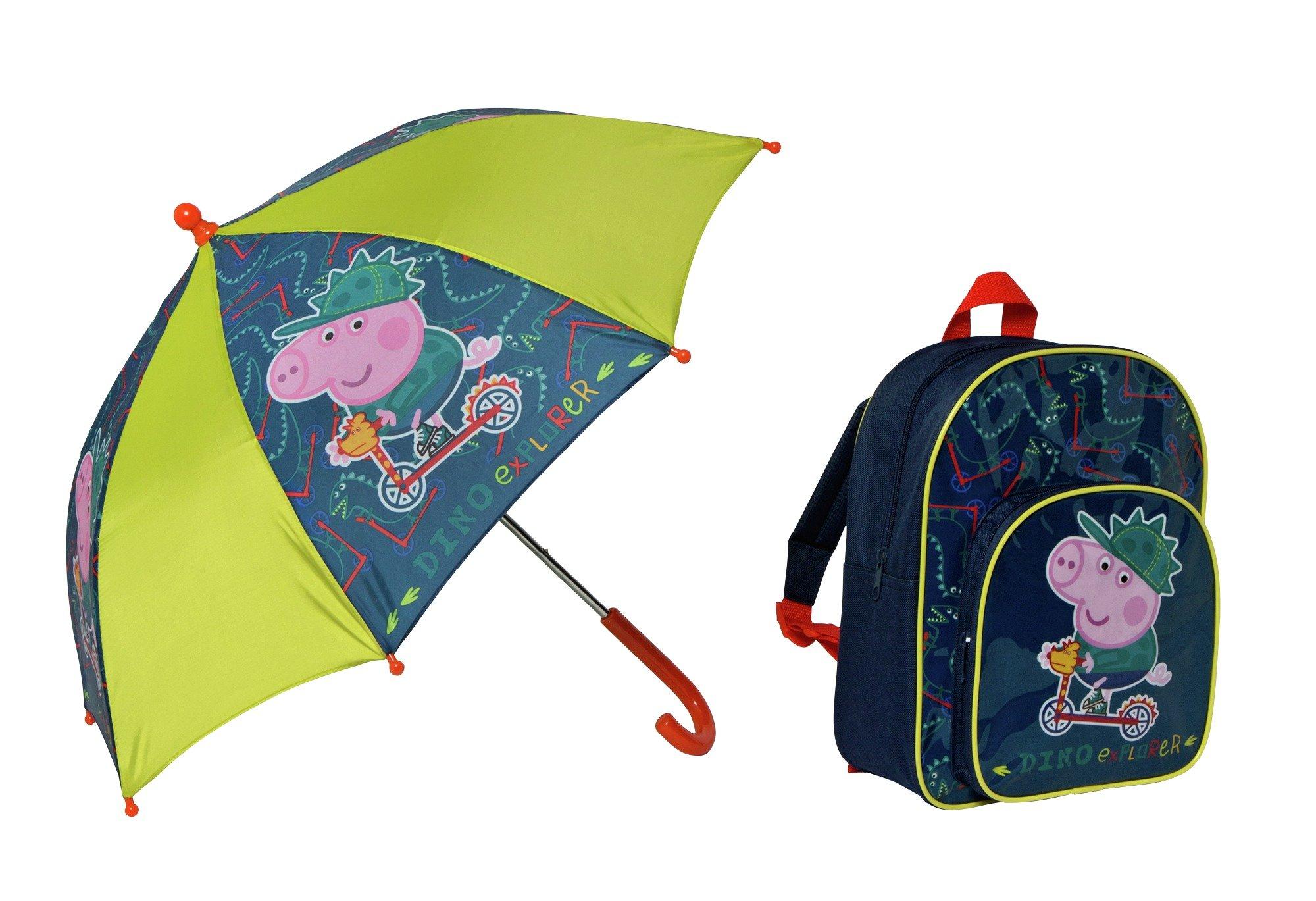 Image of Peppa Pig George Backpack & Umbrella