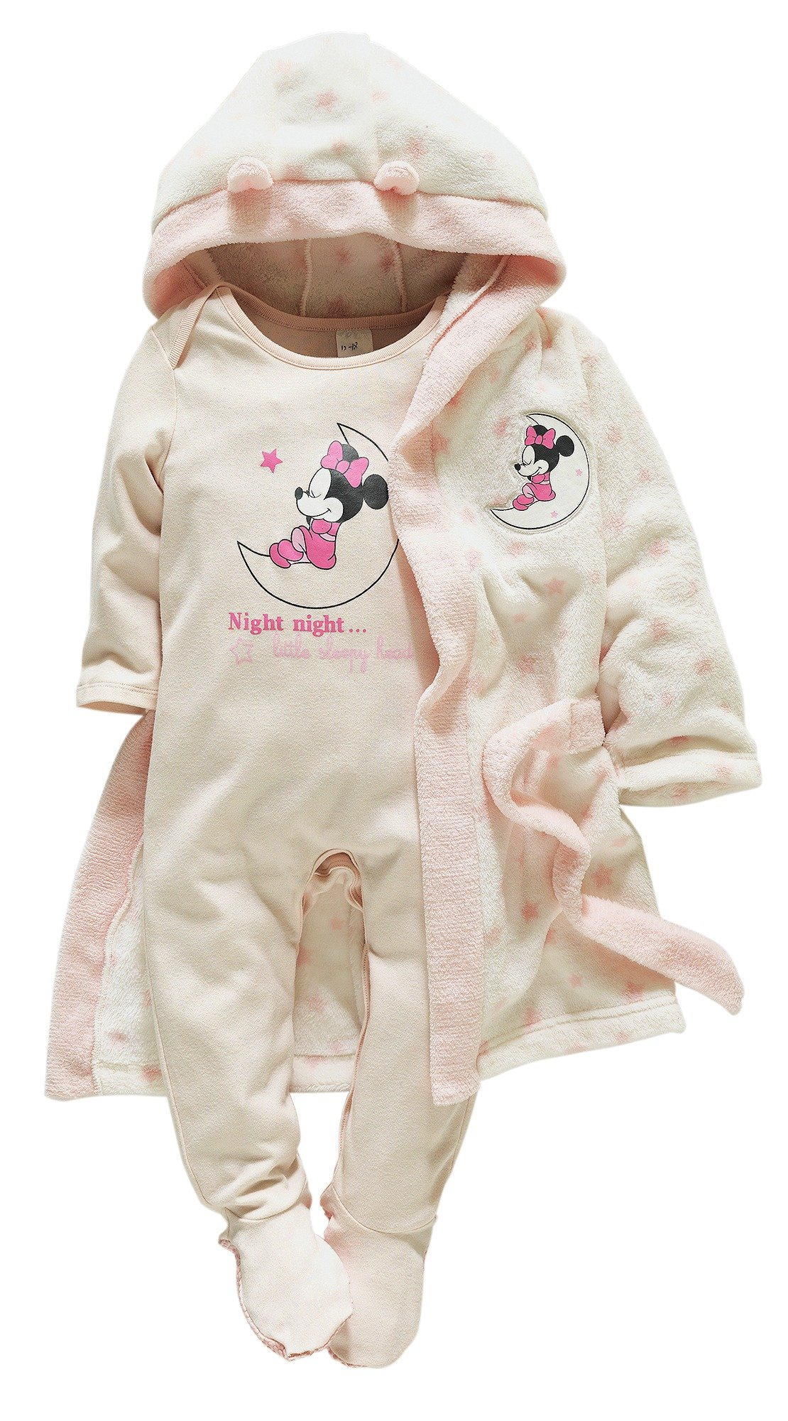 Image of Minnie Mouse - Baby Pink Gown and Pyjama Set - 12-18 Months