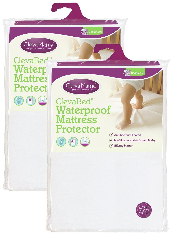clevamama  waterproof  mattress protector  crib